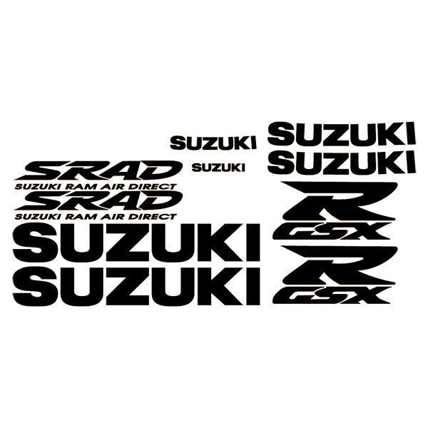 Car and Motorbike Stickers: GSXR Gold 750 1996