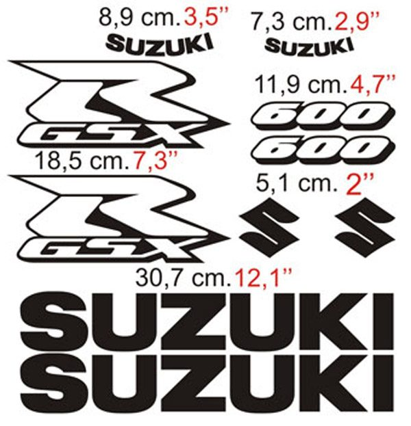 Car & Motorbike Stickers: GSXR 600 Contour 2006
