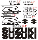 Car & Motorbike Stickers: GSXR 600 Contour 2006 2