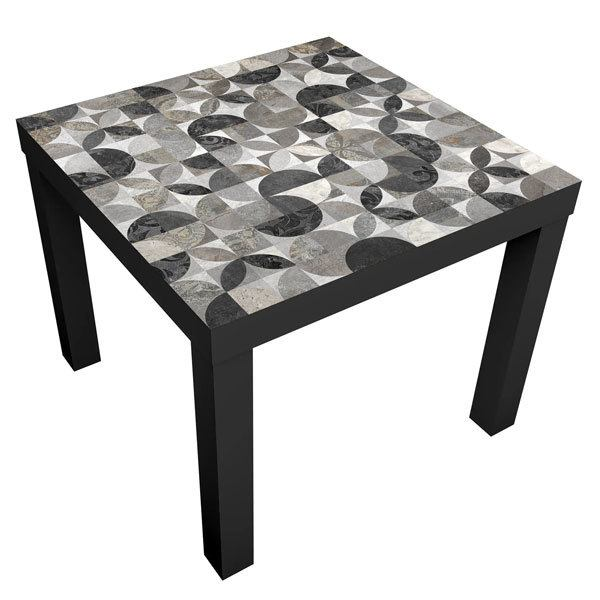 Wall Stickers: Sticker Ikea Lack Table Gray Tiles