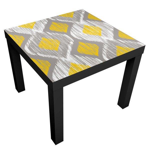 Custom IKEA Lack Table Colorful Grid Pattern Vinyl Cover Sticker