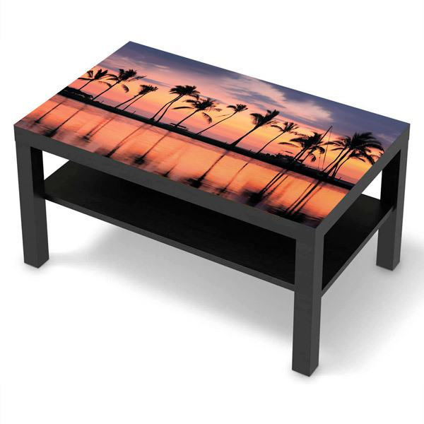 Wall Stickers: Sticker Ikea Lack Table Palms at sunset