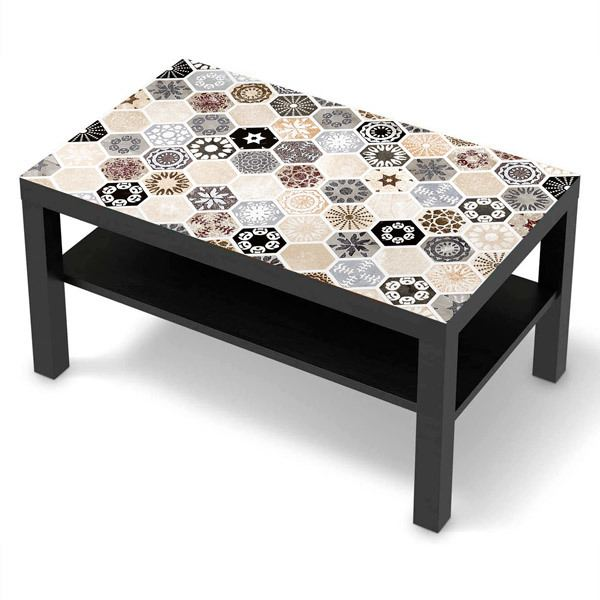 Wall Stickers: Sticker Ikea Lack Table Decorative Tiles