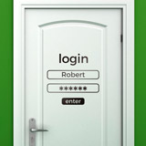 Wall Stickers: Custom login 2