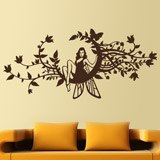 Wall Stickers: Fairy in the moon of flowers 2