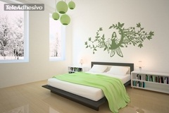 Wall Stickers: Fairy in the moon of flowers 3