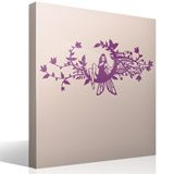 Wall Stickers: Fairy in the moon of flowers 7