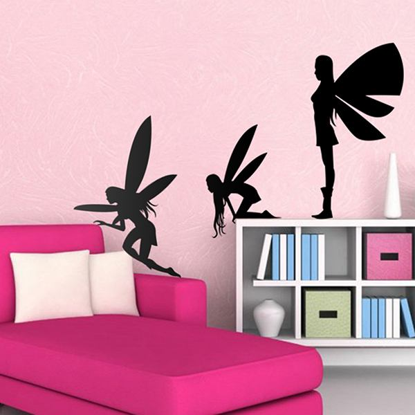 Stickers for Kids: Fairies silhouettes