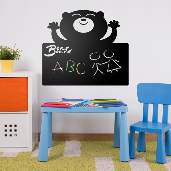 Stickers for Kids: Blackboard of the happy bear