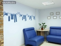 Wall Stickers: Wall Border clothes 2