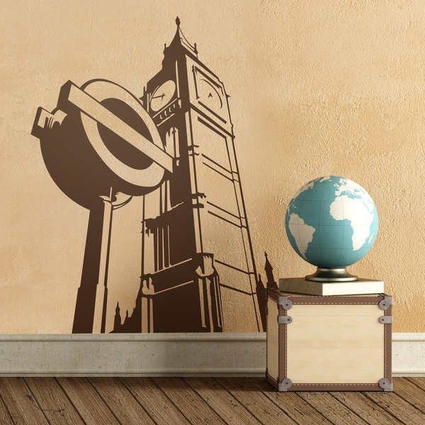 Wall Stickers: The Big Ben and a subway sign