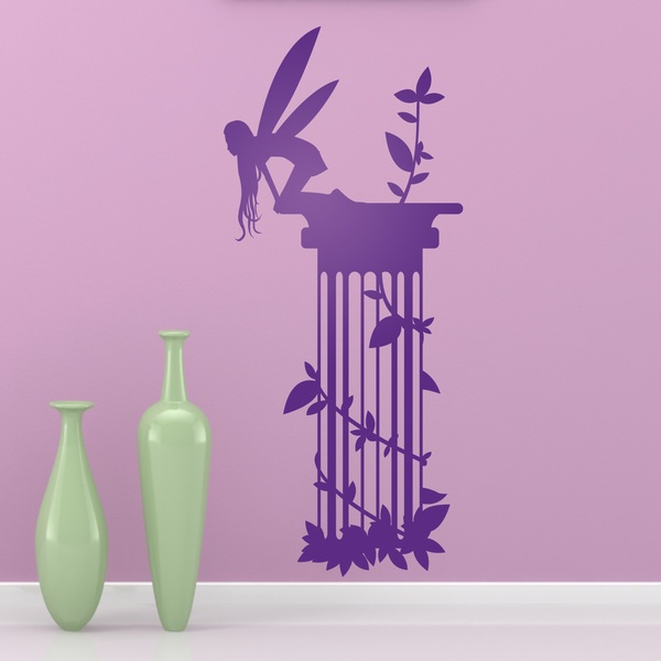 Wall Stickers: Fairy emerging from vegetation