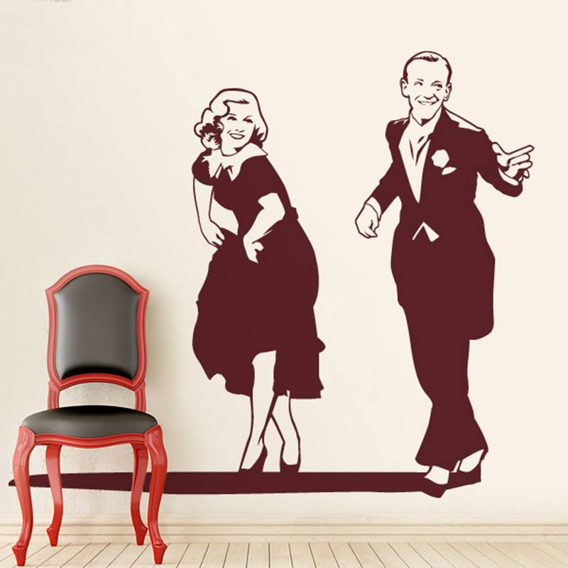 Wall Stickers: Fred Astaire and Ginger Rogers