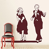 Wall Stickers: Fred Astaire and Ginger Rogers 2