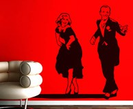 Wall Stickers: Fred Astaire and Ginger Rogers 3