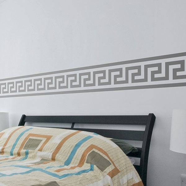 Wall Stickers: Self adhesive borders Greek Spiral