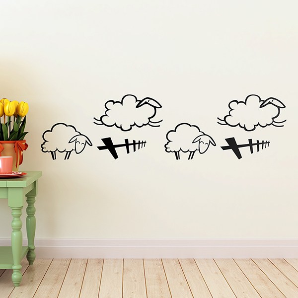Stickers for Kids: Wall border infant Sheep