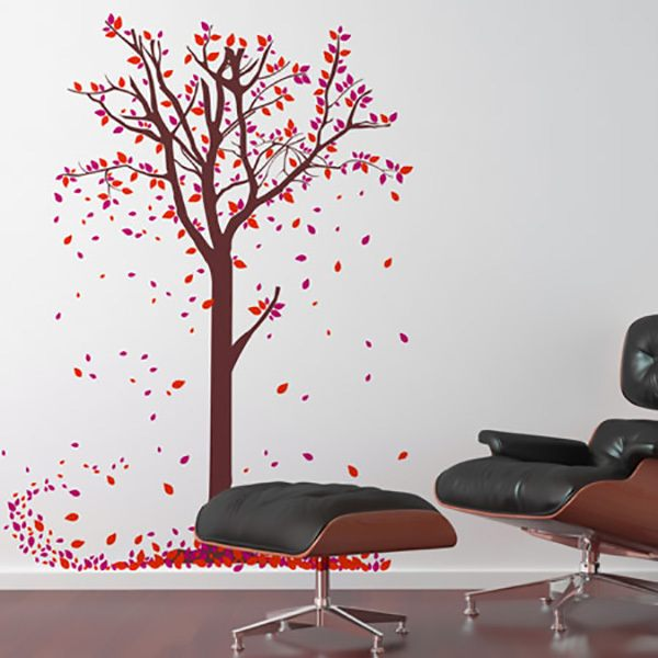 Wall Stickers: The leaves of the tree fall in autumn