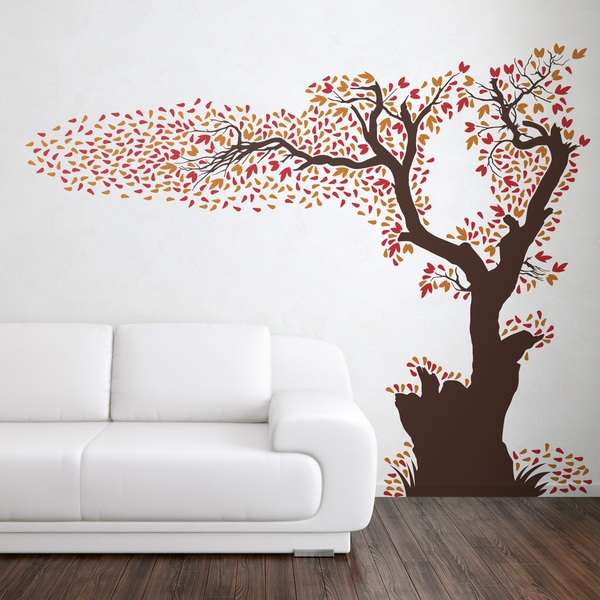 Wall Stickers: Tree losing its leaves