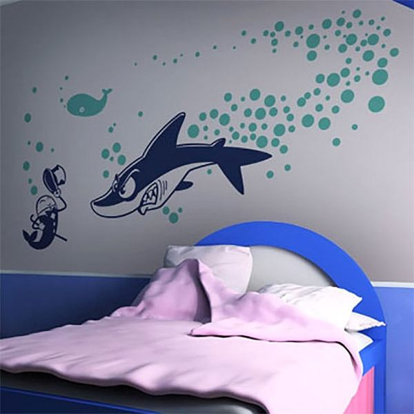 Wall Stickers: Shark attack