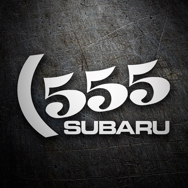 Car & Motorbike Stickers: Subaru 555