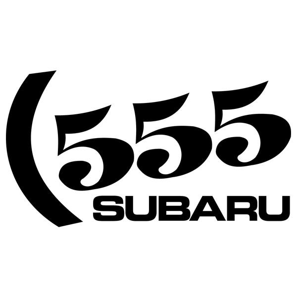 Car and Motorbike Stickers: Subaru 555