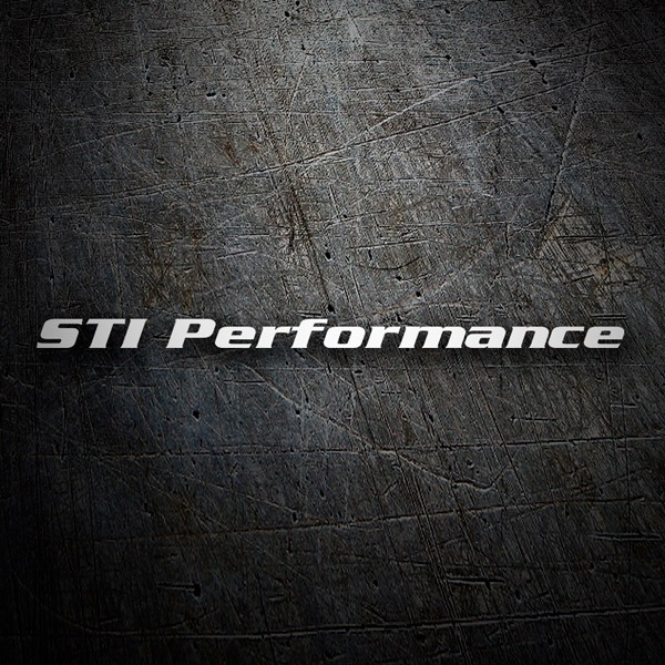 Car & Motorbike Stickers: STI Performance