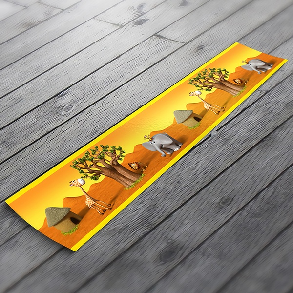 African animals decorative border