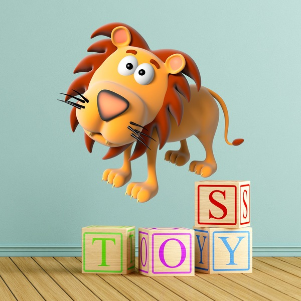 Stickers for Kids: Calm lion
