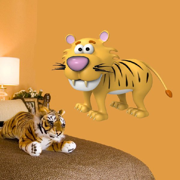 Stickers for Kids: Infant Tiger