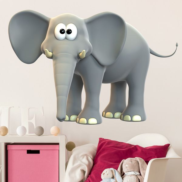 Stickers for Kids: Happy elephant 1