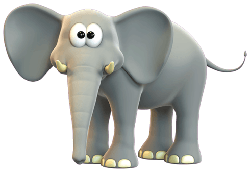 Stickers for Kids: Happy elephant 0