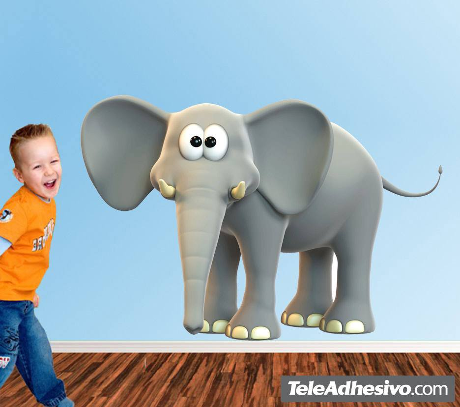 Stickers for Kids: Happy elephant