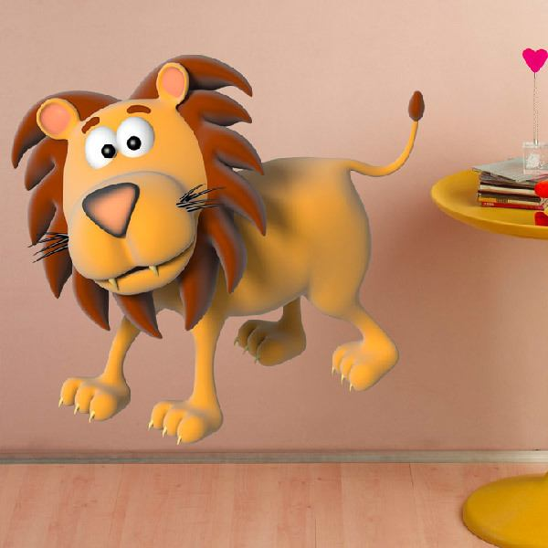Stickers for Kids: lion