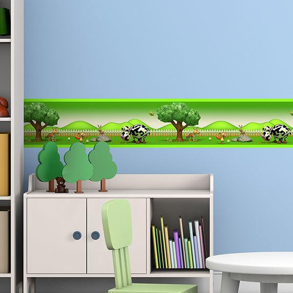 Stickers for Kids: Wall Border Children