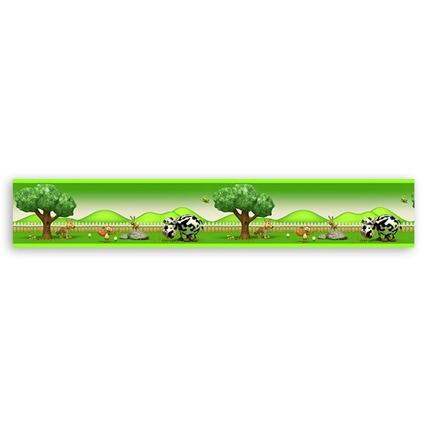 Stickers for Kids: Farm children decorative border