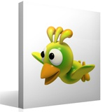 Stickers for Kids: Yellow bird flying 3