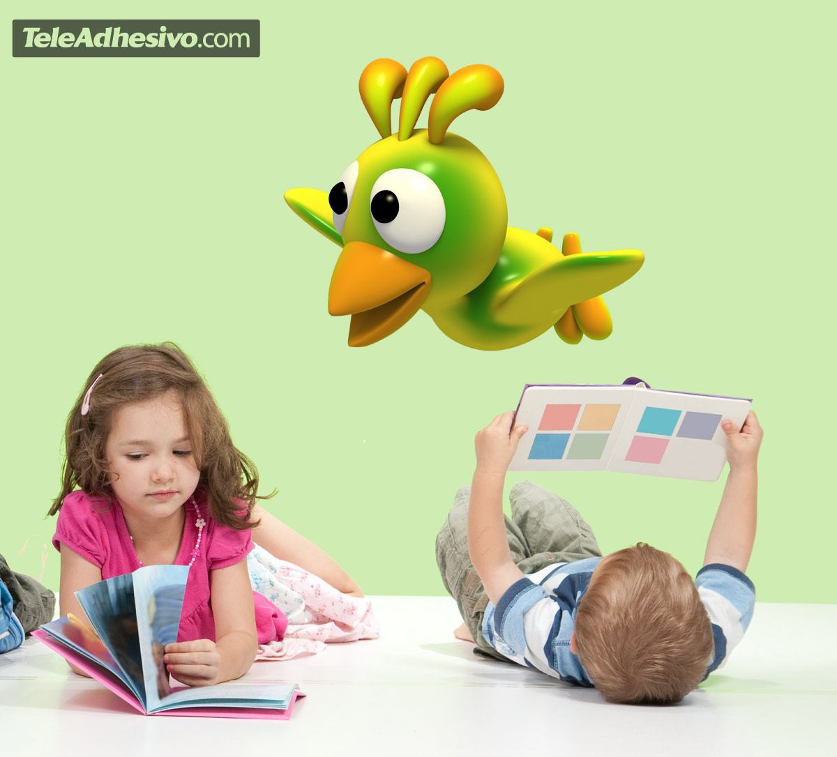 Stickers for Kids: Yellow bird flying