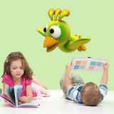 Stickers for Kids: Yellow bird flying 4