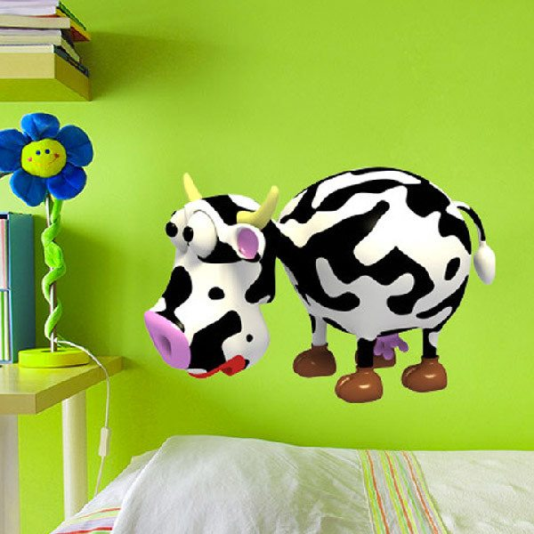 Stickers for Kids: Milk cow