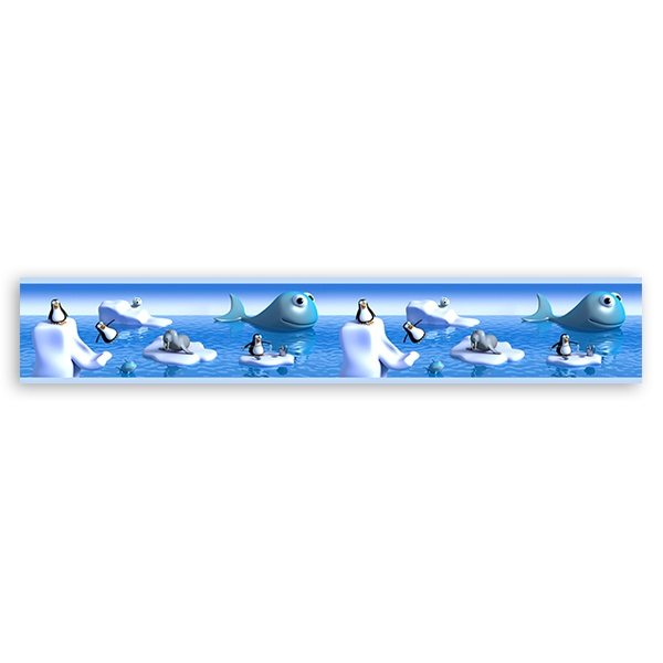 Stickers for Kids: Children Border animal pole