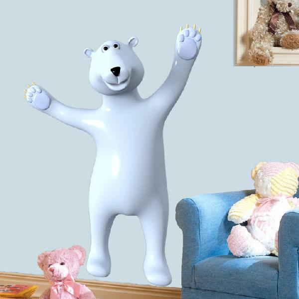 Stickers for Kids: White Bear