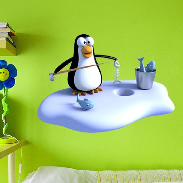 Stickers for Kids: Fisherman penguin