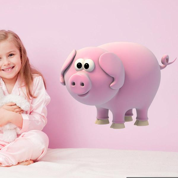 Stickers for Kids: Pig