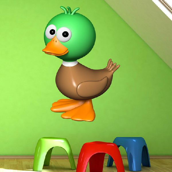 Stickers for Kids: Green Duck