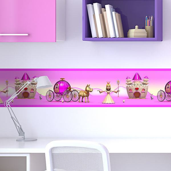 Stickers for Kids: Wall Border Princess