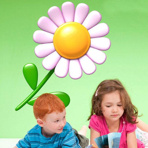 Stickers for Kids: Daisy flower