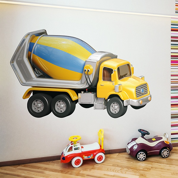Stickers for Kids: Concrete trucks