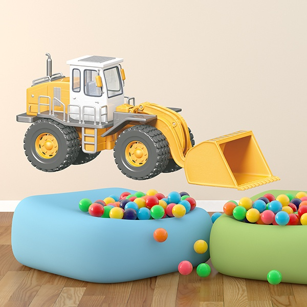 Stickers for Kids: Excavator loader