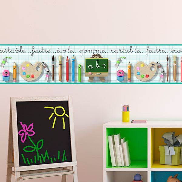 Stickers for Kids: Wall Border School